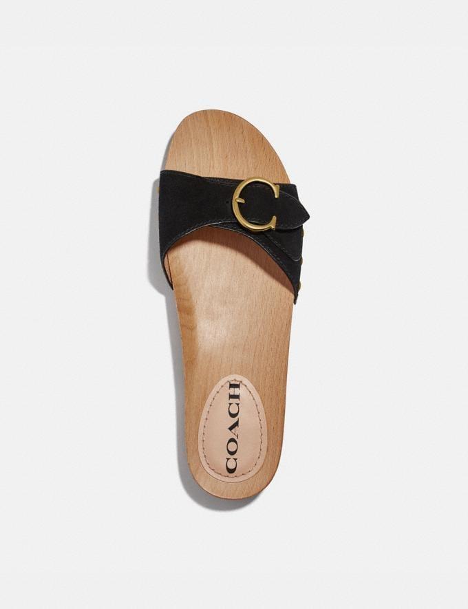 Coach Bleeker Sandal Black Women Shoes Sandals Alternate View 2