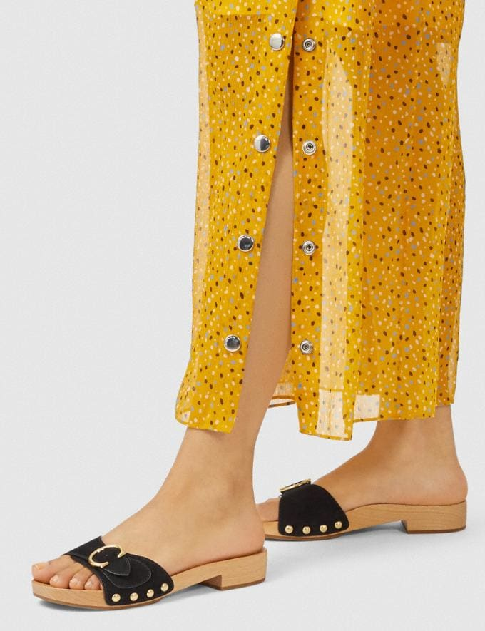 Coach Bleeker Sandal Black Women Shoes Sandals Alternate View 4