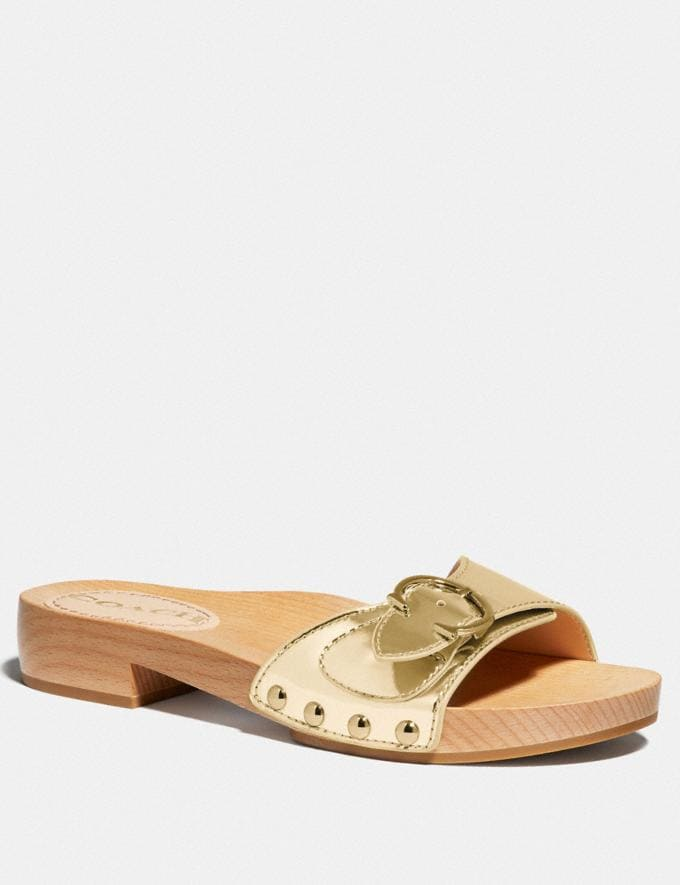 Coach Bleeker Sandal Gold Women Shoes Sandals