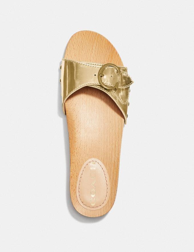Coach Sandales Bleeker DorÉ Femme Chaussures Chaussures plates Autres affichages 2