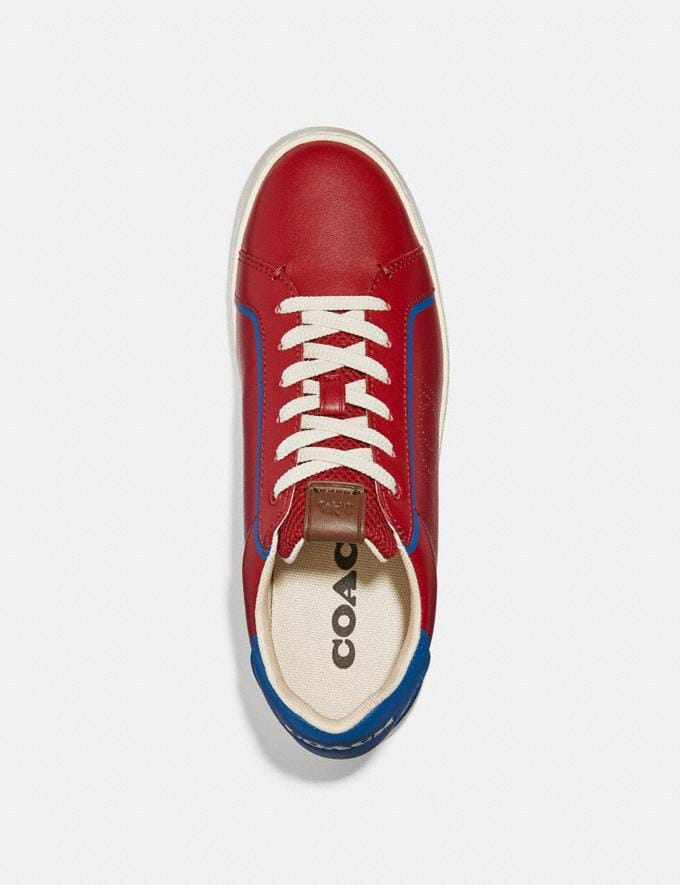 Coach Lowline Low Top Sneaker Dark Cardinal Bright Cobalt Men Shoes CitySole Alternate View 2