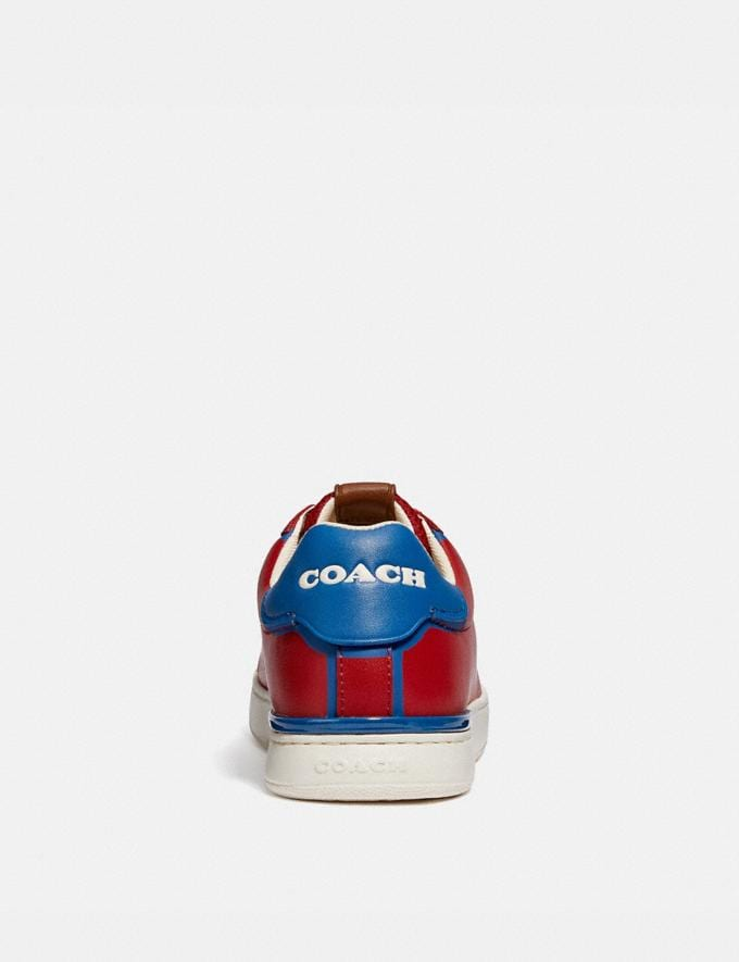 Coach Lowline Low Top Sneaker Dark Cardinal Bright Cobalt Gifts For Him Under $300 Alternate View 3