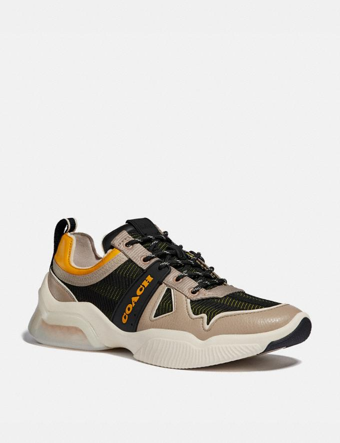 Coach Citysole Runner Black/Yellow New Men's New Arrivals