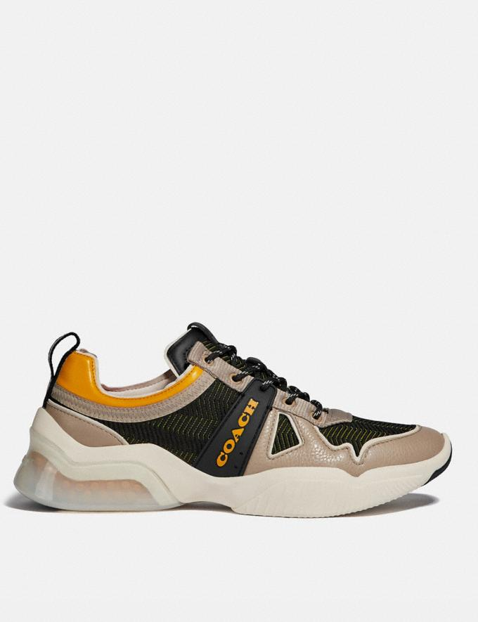 Coach Citysole Runner Black/Yellow New Men's New Arrivals Alternate View 1