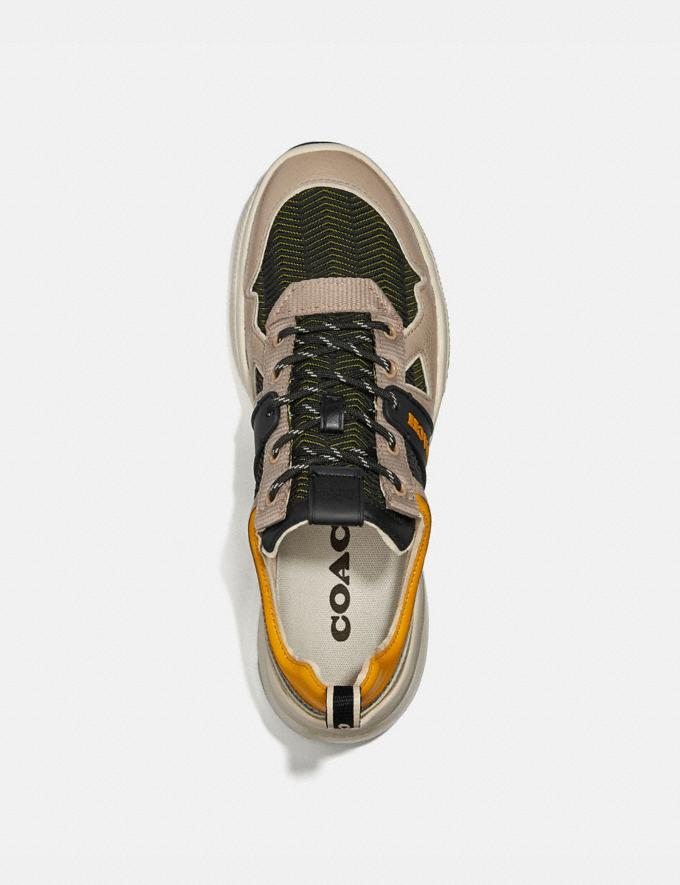 Coach Citysole Runner Black/Yellow Men Shoes Trainers Alternate View 2