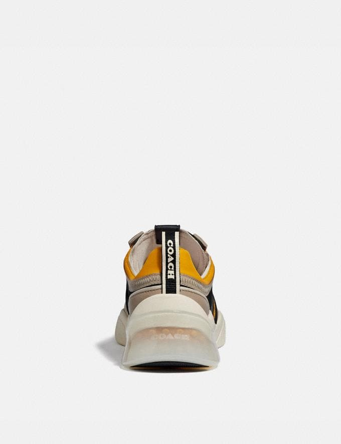 Coach Citysole Runner Black/Yellow Men Shoes Trainers Alternate View 3