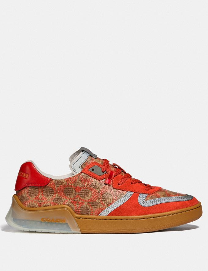 Coach Citysole Court Sneaker Khaki Harvest Orange New Featured CitySole For Him Alternate View 1