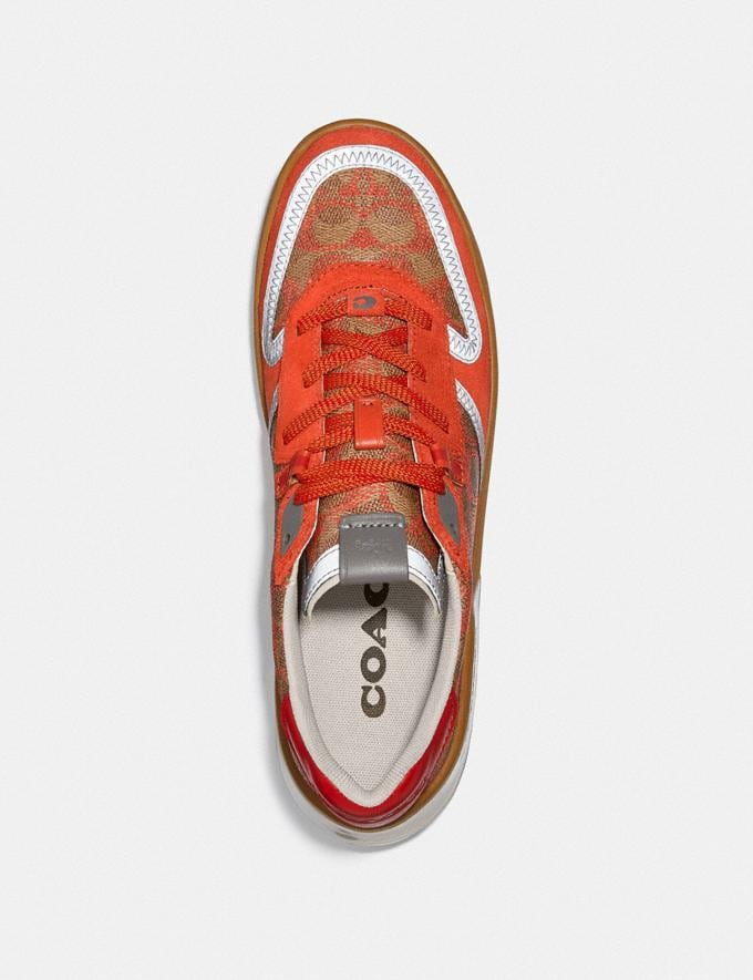 Coach Citysole Court Sneaker Khaki Harvest Orange New Featured CitySole For Him Alternate View 2