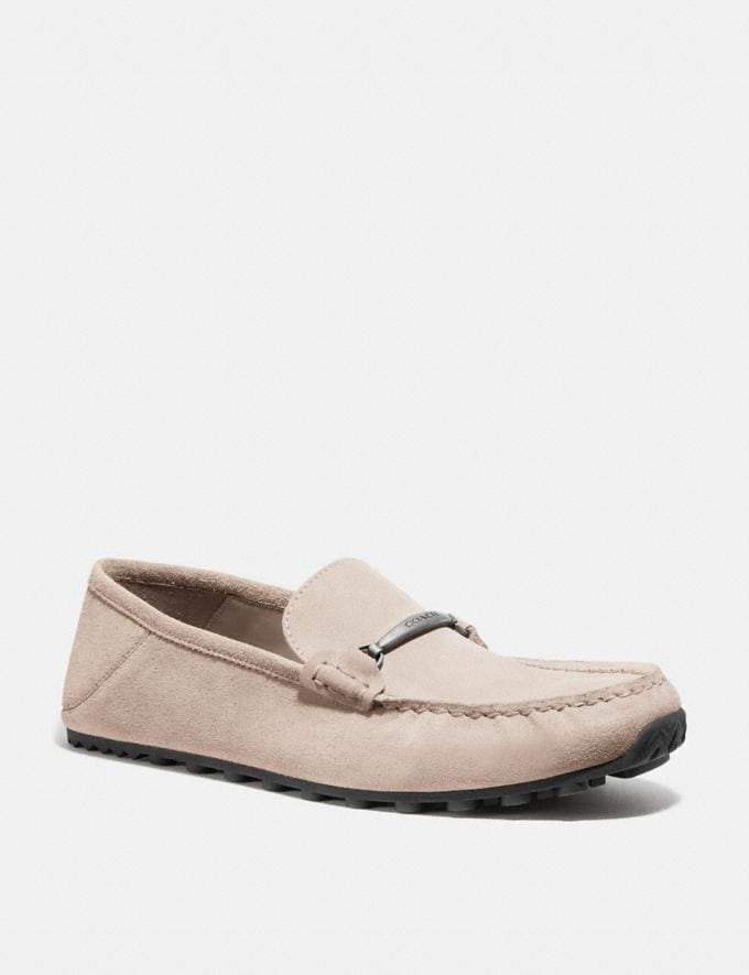 Coach Collapsible Heel Driver Oat Men Shoes Casual