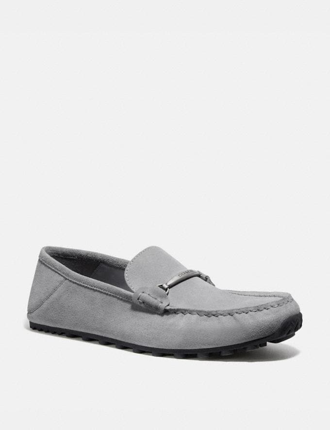 Coach Collapsible Heel Driver Washed Steel New Men's New Arrivals