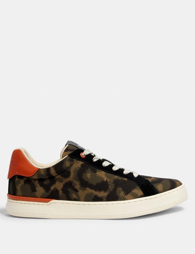 Coach Clip Low Top Sneaker Animal Camo  Alternate View 1