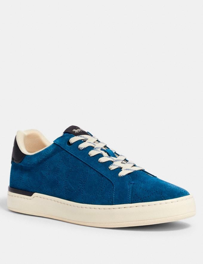 Coach Clip Low Top Sneaker Bright Cobalt