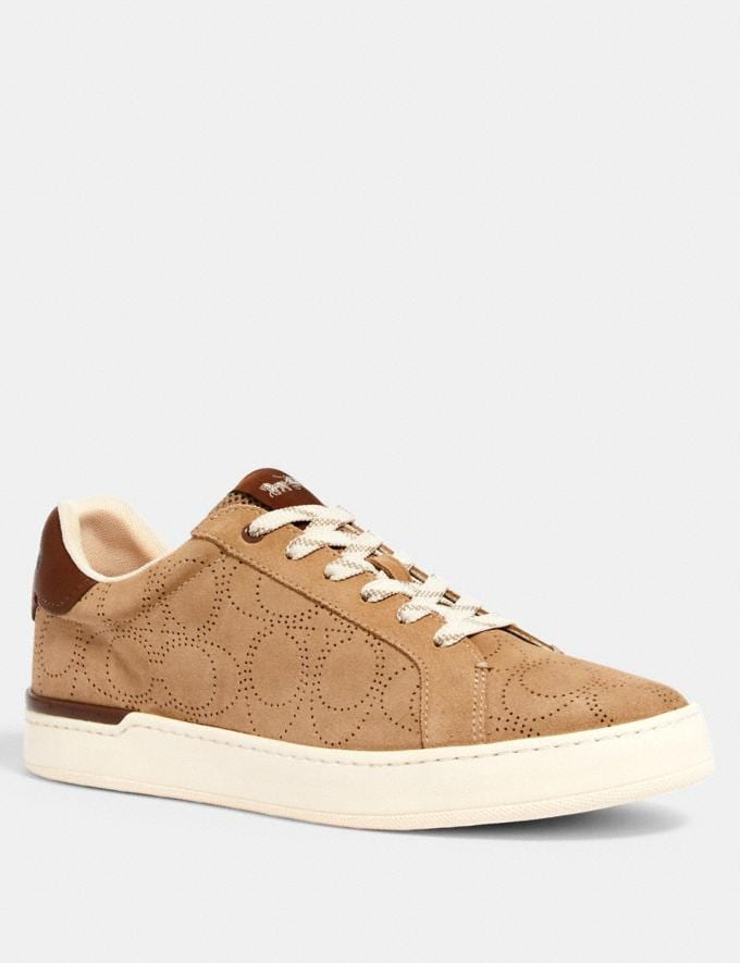 Coach Clip Low Top Sneaker Oat