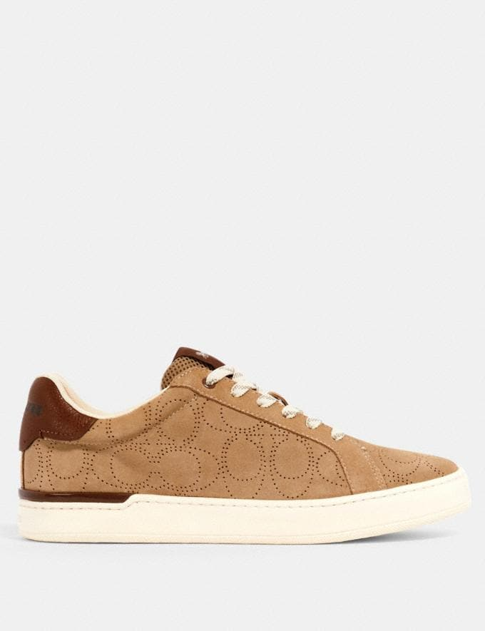 Coach Clip Low Top Sneaker Oat  Alternate View 1