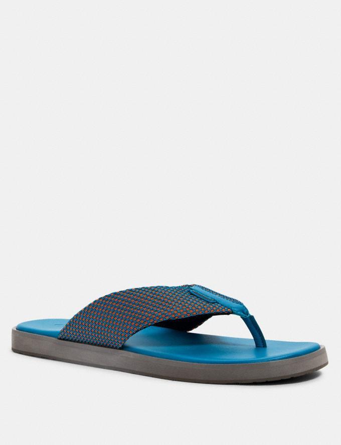 Coach Flip Flop Turquoise