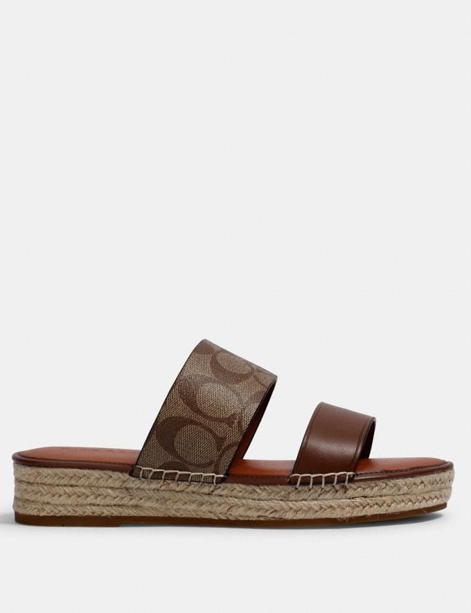 Coach Franca Espadrille Khaki/Saddle  Alternate View 1