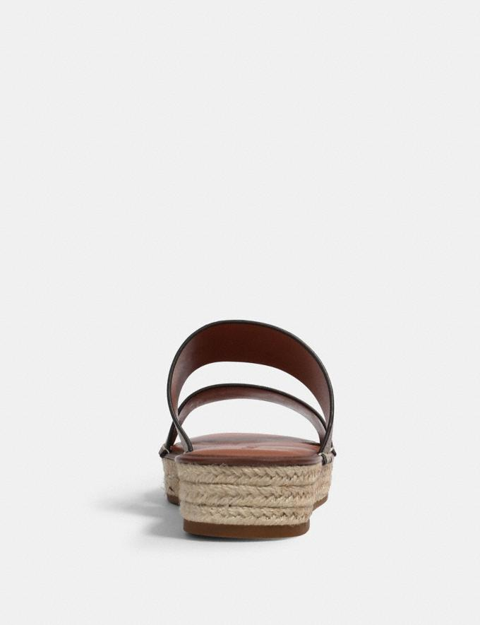 Coach Franca Espadrille Khaki/Saddle  Alternate View 3