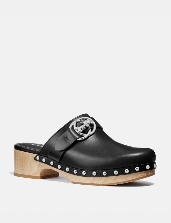 Coach Freya Clog Black Women Shoes Flats