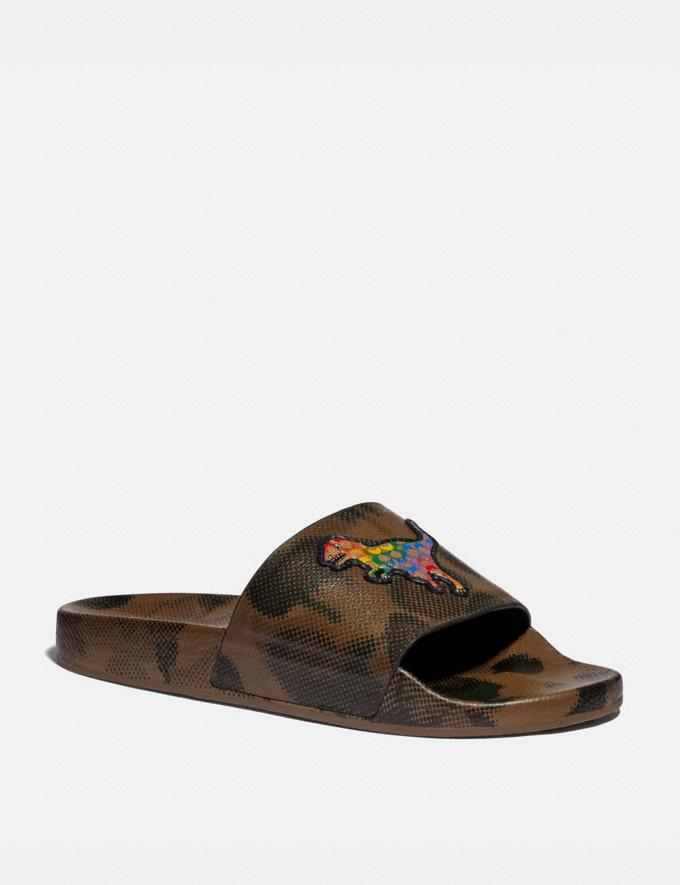 Coach Slide With Rainbow Signature Rexy Wildbeast Multi Uomo Calzature Casual