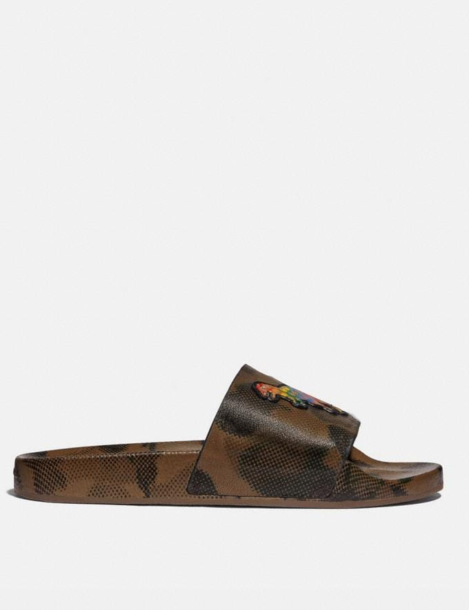 Coach Slide With Rainbow Signature Rexy Wildbeast Multi Uomo Calzature Casual Visualizzazione alternativa 1