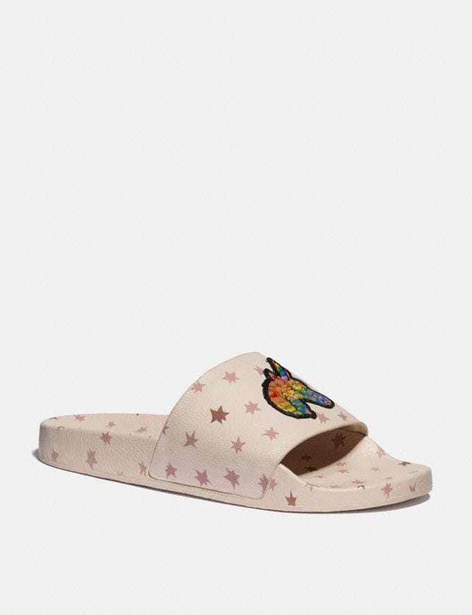 Coach Slide With Rainbow Signature Uni Creme Multi Herren Schuhe Casual