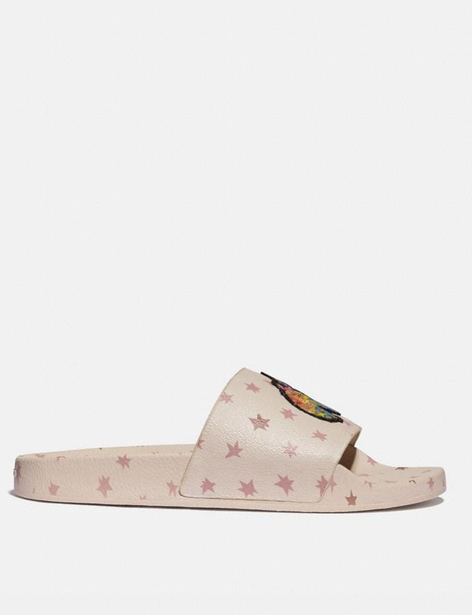 Coach Slide With Rainbow Signature Uni Creme Multi Herren Schuhe Casual Alternative Ansicht 1