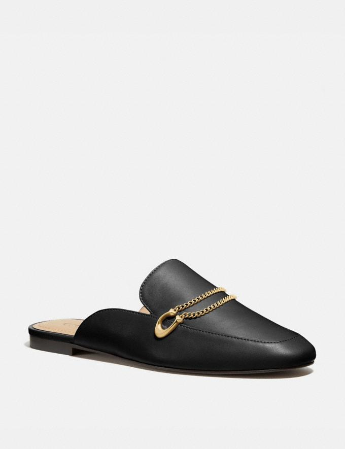 Coach Sawyer Slide Loafer Black Women Shoes Flats