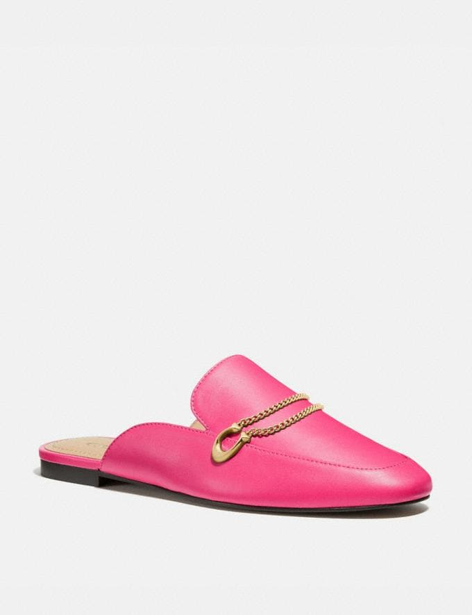 Coach Sawyer Slide Loafer Electric Pink Women Shoes Flats