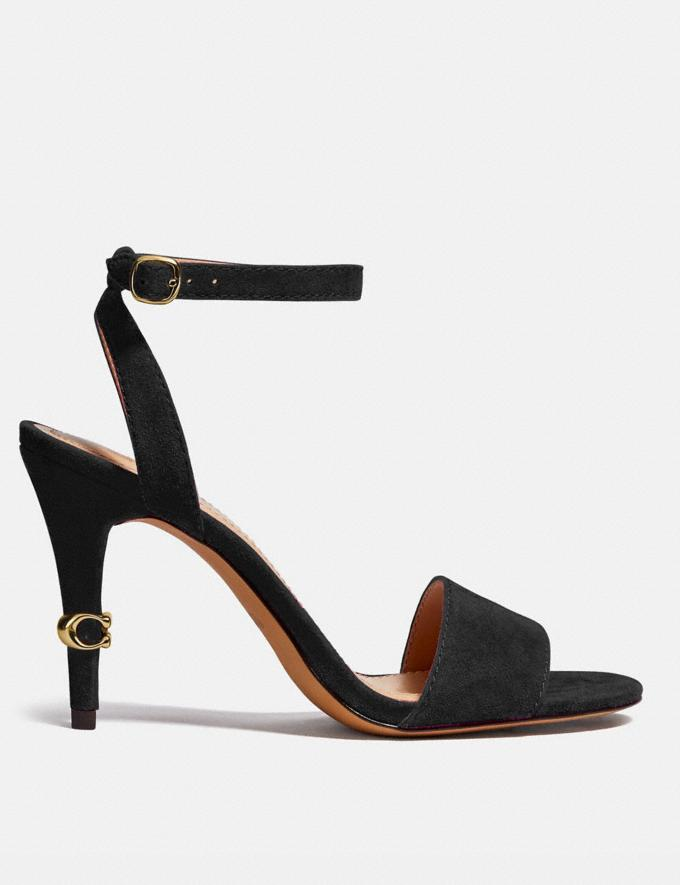 Coach Regina Sandal Black VIP SALE Nach Rabatt Shoppen 40% Rabatt Alternative Ansicht 1