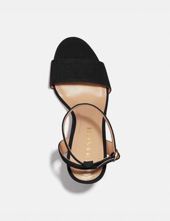 Coach Regina Sandal Black VIP SALE Nach Rabatt Shoppen 40% Rabatt Alternative Ansicht 2