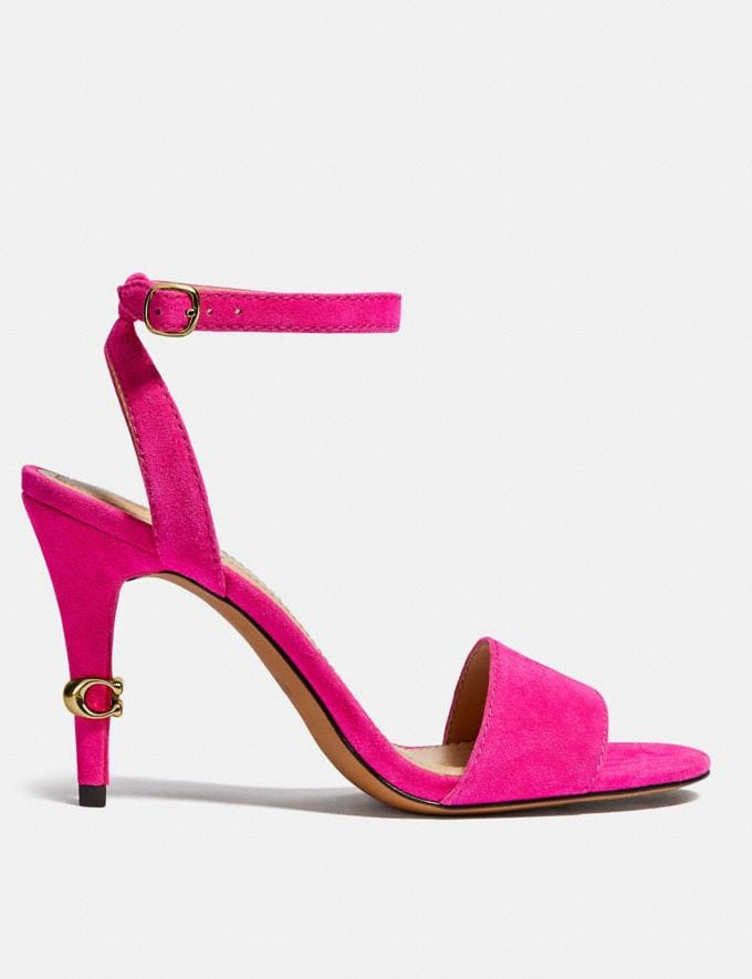 Coach Regina Sandal Shocking Pink New Women's New Arrivals Alternate View 1