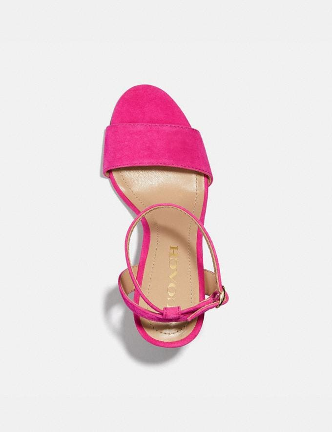 Coach Regina Sandal Shocking Pink New Women's New Arrivals Alternate View 2