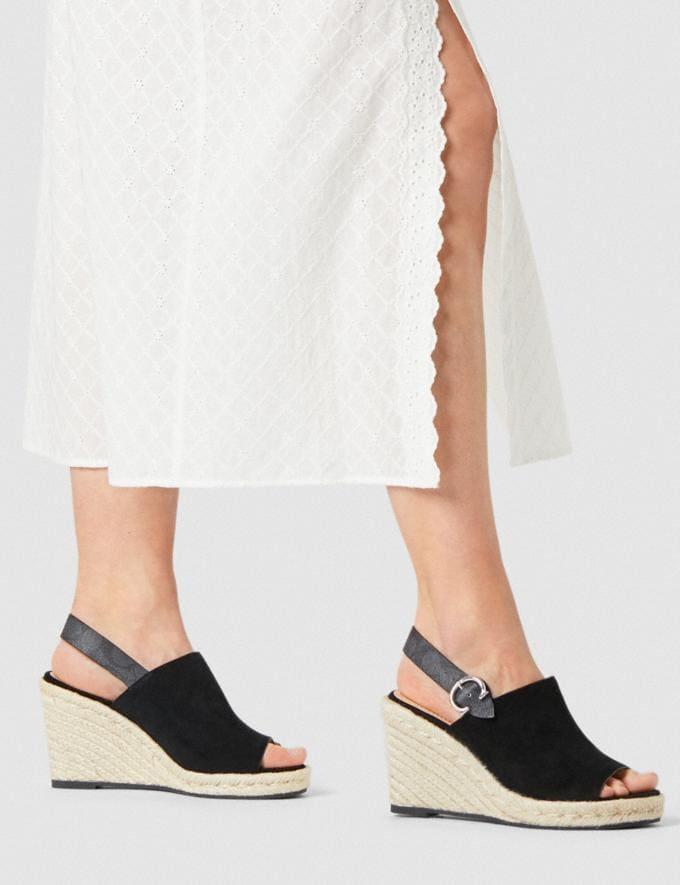 Coach Poppy Wedge Black Women Shoes Heels Alternate View 4