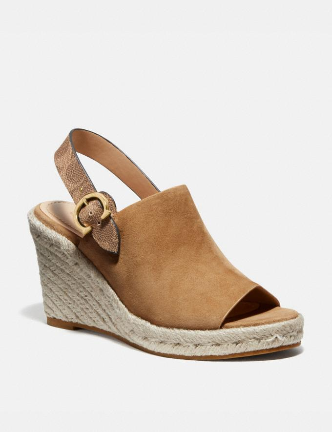 Coach Poppy Wedge Peanut Women Shoes Heels