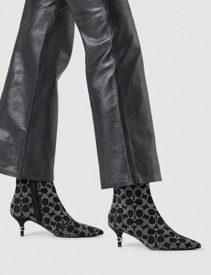 Coach Jewel Bootie Black Women Shoes Boots & Booties Alternate View 4