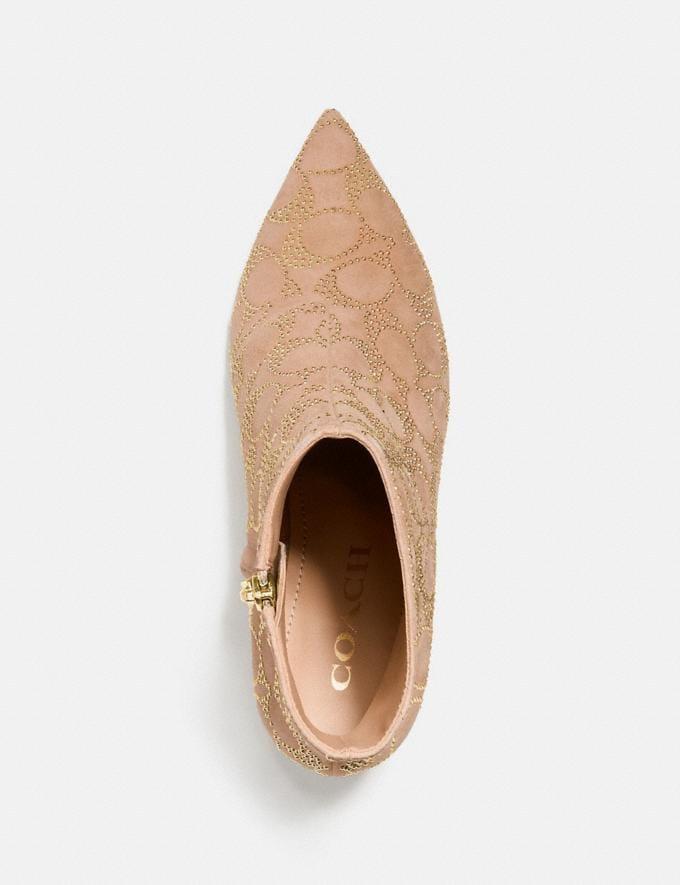 Coach Jewel Bootie Beechwood Women Shoes Boots & Booties Alternate View 2