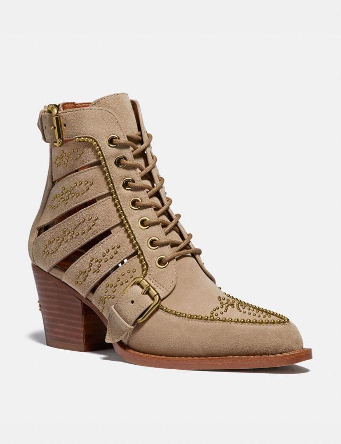 Coach Paisley Bootie Oat Women Shoes