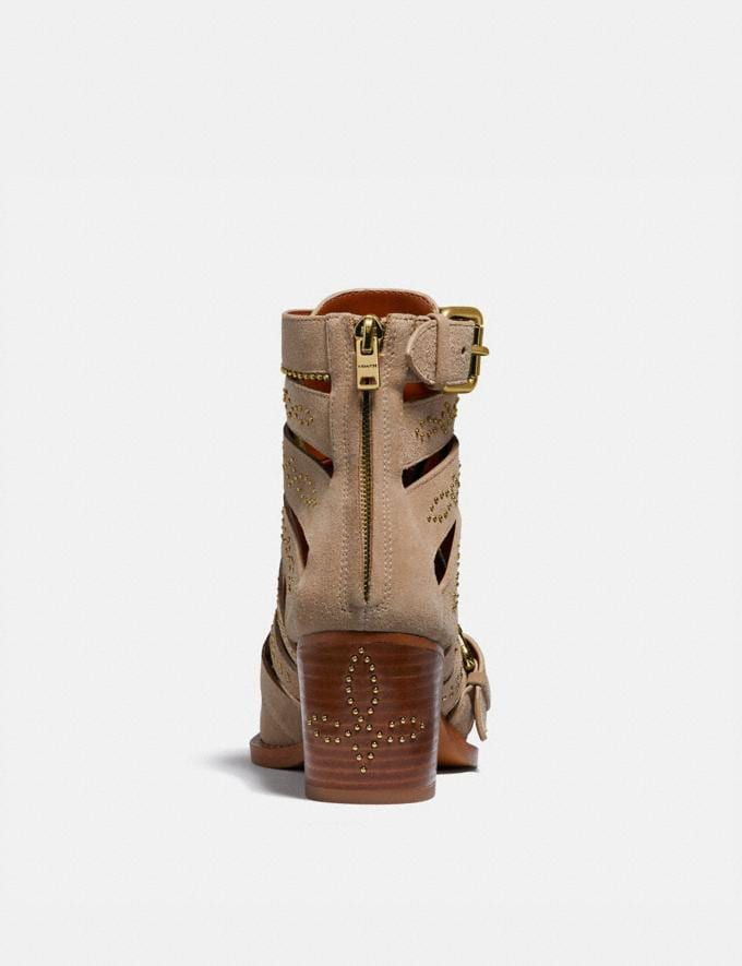 Coach Paisley Bootie Oat Women Shoes Boots & Booties Alternate View 3