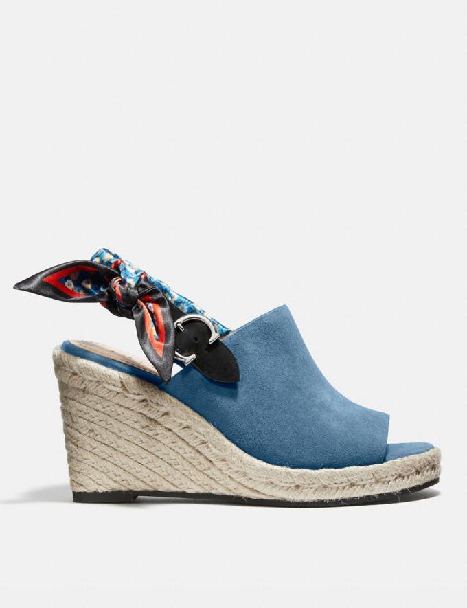 Coach Poppy Keilsandalette Leuchtend Lachs Damen Schuhe High Heels Alternative Ansicht 1