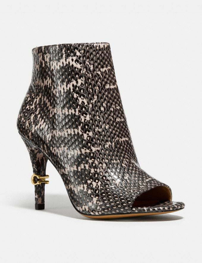 Coach Remi Bootie in Snakeskin Tan Women Shoes Boots & Booties