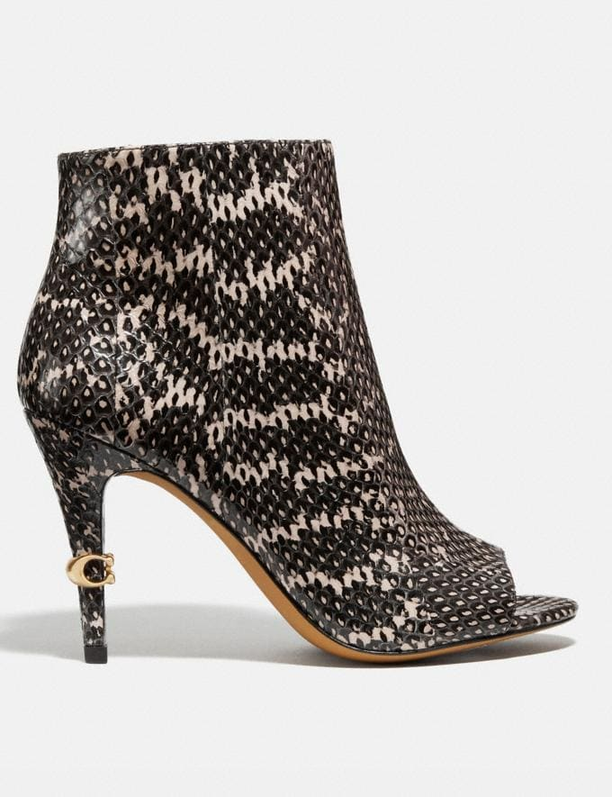 Coach Remi Bootie in Snakeskin Tan Women Shoes Boots & Booties Alternate View 1