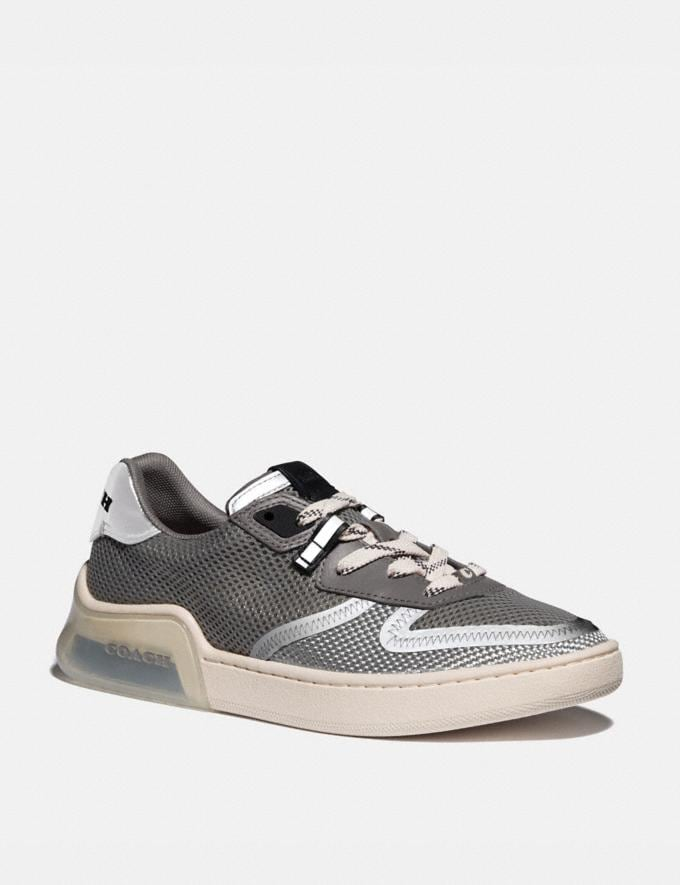 Coach Citysole Court Sneaker Silver Women Shoes Trainers