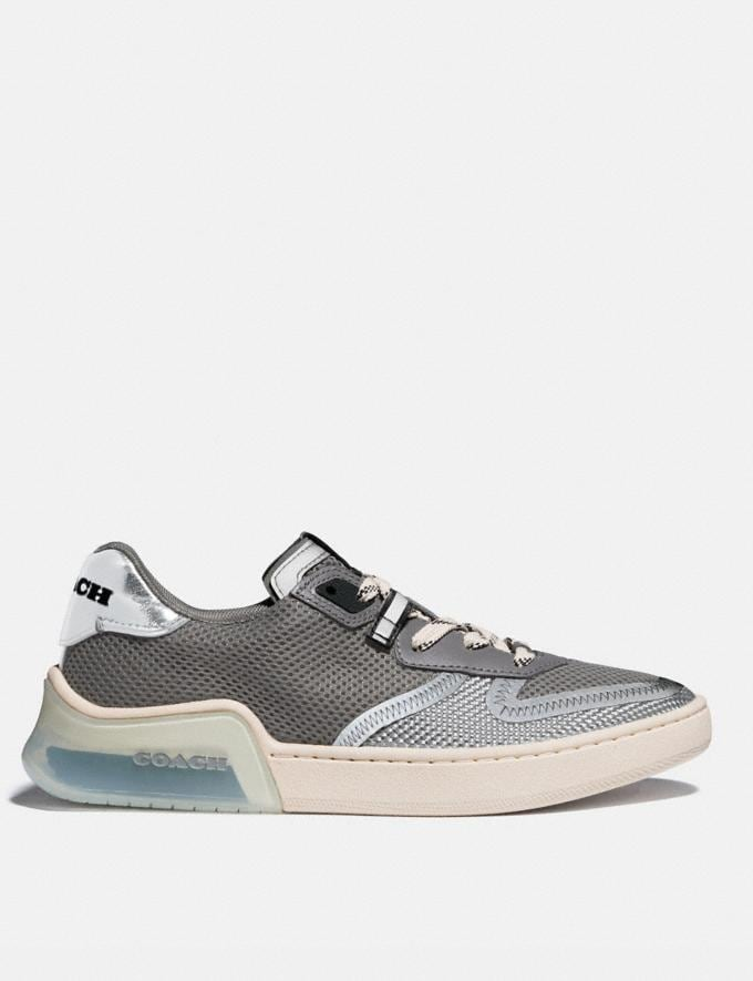 Coach Citysole Court Sneaker Silver Women Shoes Sneakers Alternate View 1