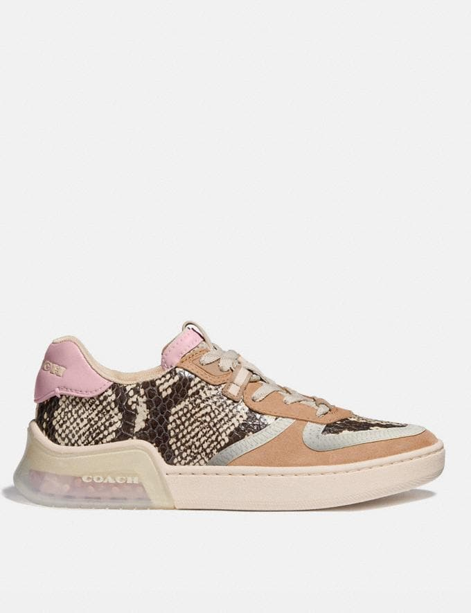 Coach Citysole Court Sneaker in Snakeskin Beechwood/Aurora Women Shoes CitySole Alternate View 1