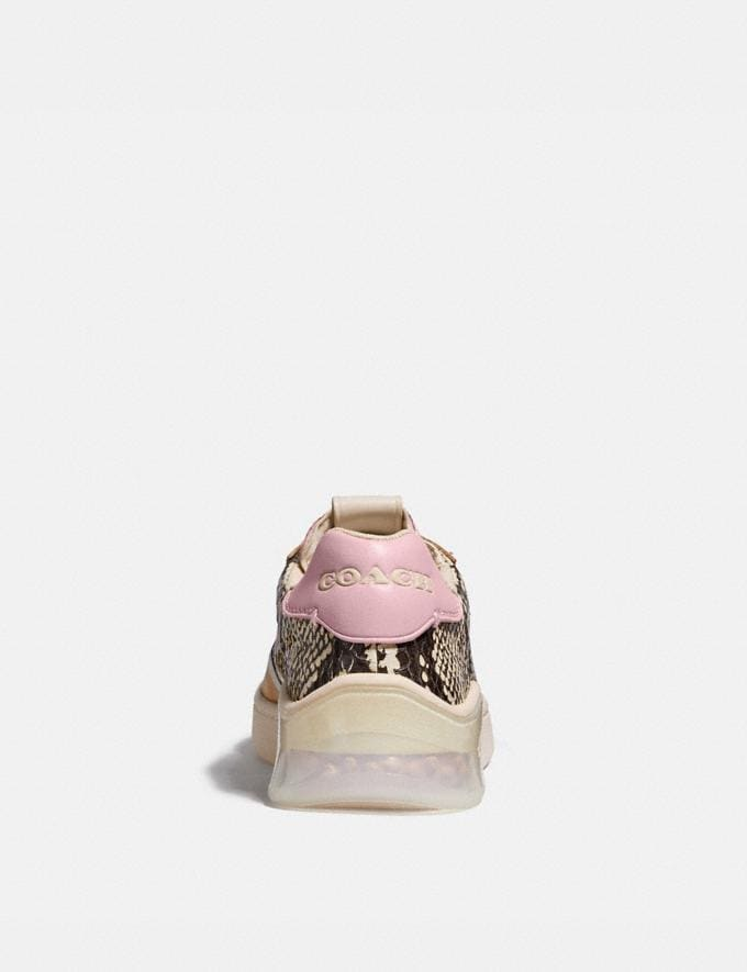 Coach Citysole Court Sneaker in Snakeskin Beechwood/Aurora Women Shoes Sneakers Alternate View 3