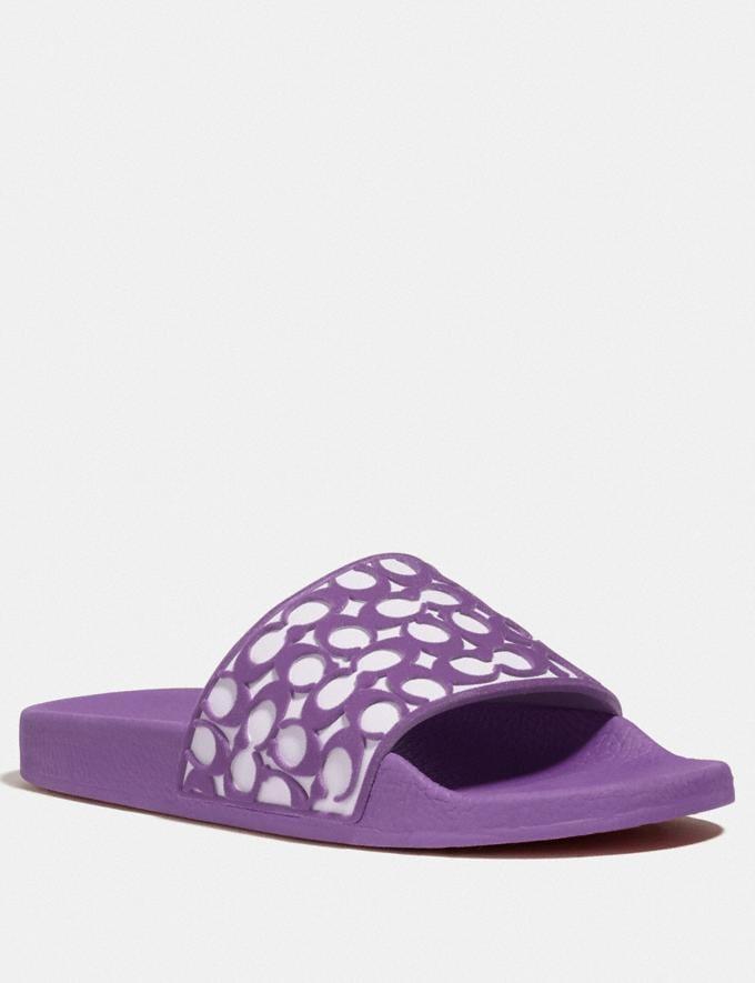 Coach Udele Sport Slide Bright Violet New Women's New Arrivals Shoes
