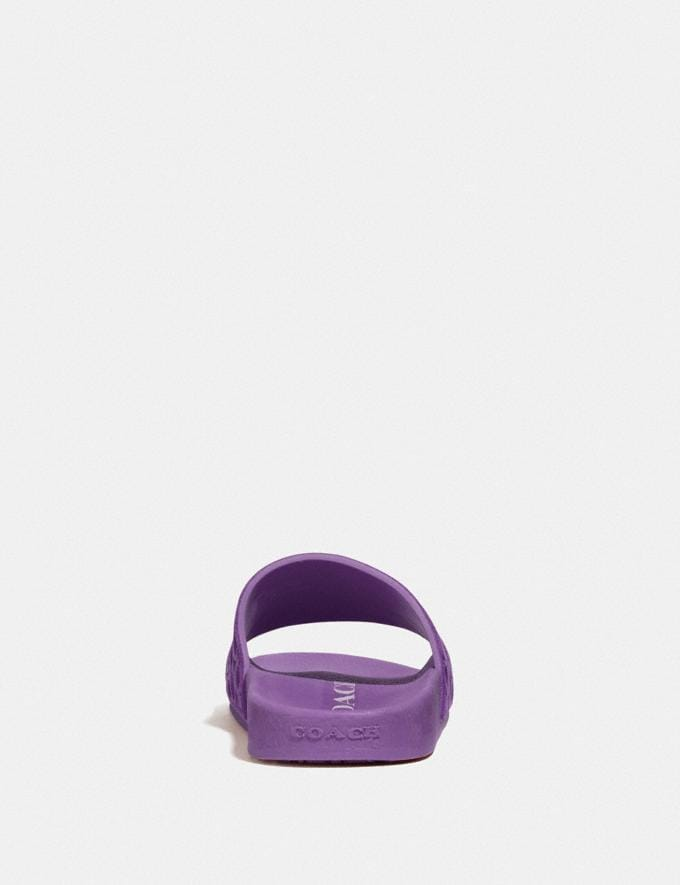 Coach Udele Sport Slide Bright Violet New Women's New Arrivals Shoes Alternate View 3