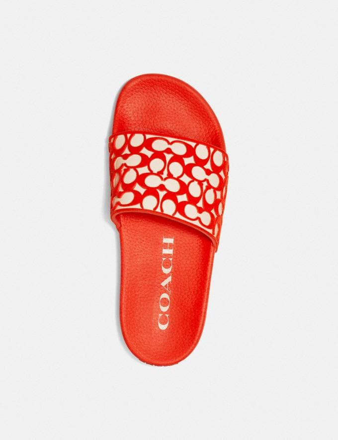 Coach Udele Sport Slide Fiery Red New Women's New Arrivals Shoes Alternate View 2