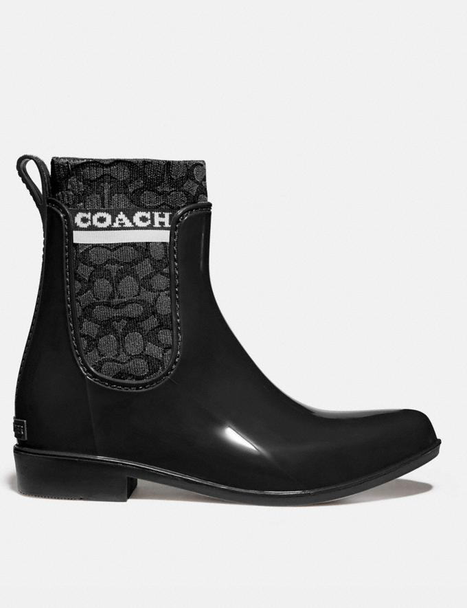 Coach Rivington Rain Bootie Black Women Shoes Alternate View 1