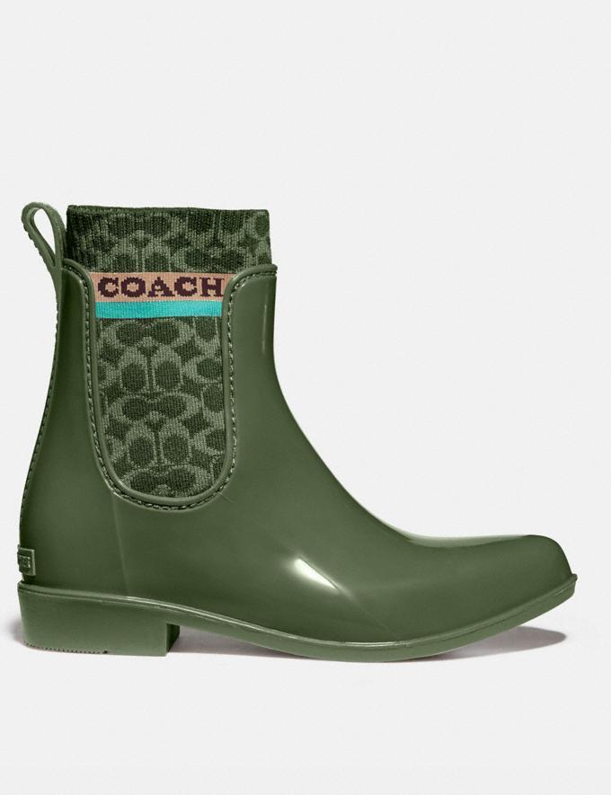 Coach Rivington Rain Bootie Bronze Green New Women's New Arrivals Shoes Alternate View 1